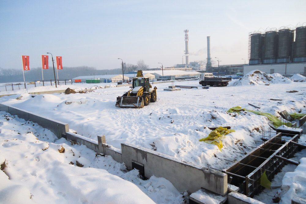plac budowy zimną - hala produkcyjno-magazynowa z częścią biurową, dla Ergis, Wąbrzeźno, woj. kujawsko-pomorskie