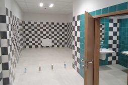 pomieszczenie sanitarne - hala magazynowa, dla firmy JB, Wieluń, woj. łódzkie
