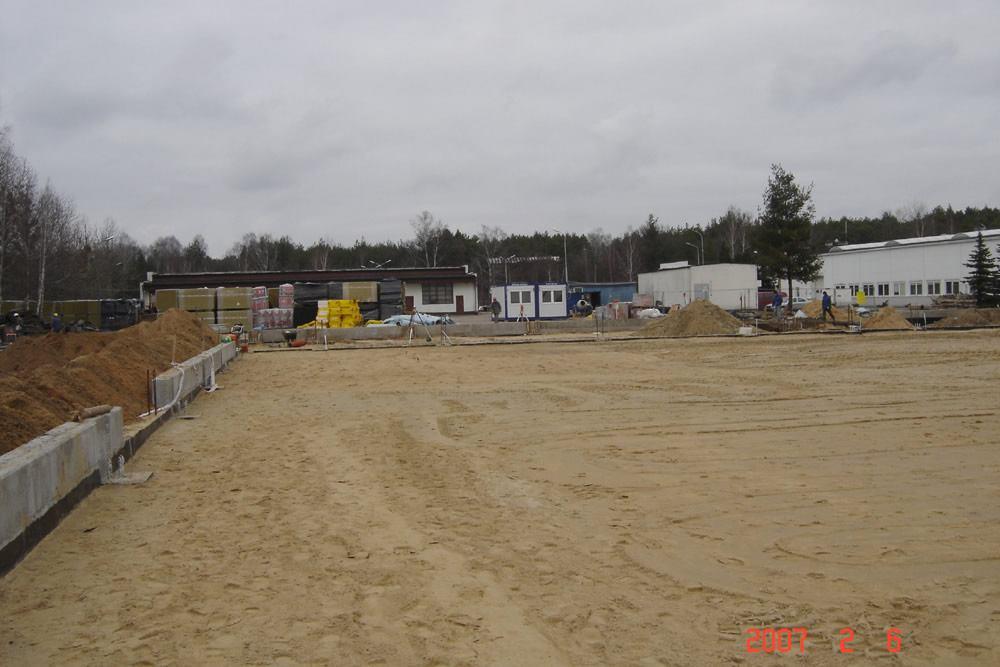 plac budowy - hala produkcyjna z częścią biurową, dla Oras, Olesno, woj. opolskie