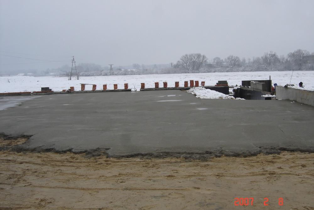 podkład betonowy pod posadzkę - hala produkcyjn z częścią biurową, dla Jan, Międzyrzecz