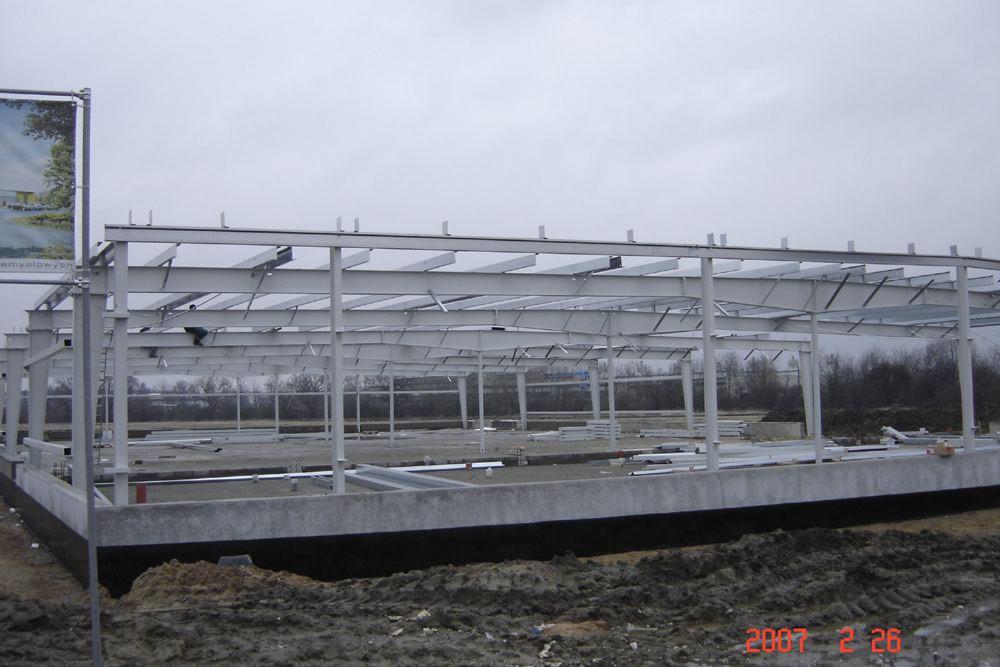 konstrukcja stalowa - hala produkcyjn z częścią biurową, dla Jan, Międzyrzecz, woj. lubuskie