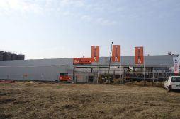 widok ogólny 1 - hala produkcyjno-magazynowa z częścią biurową, dla Ergis, Wąbrzeźno, woj. kujawsko-pomorskie