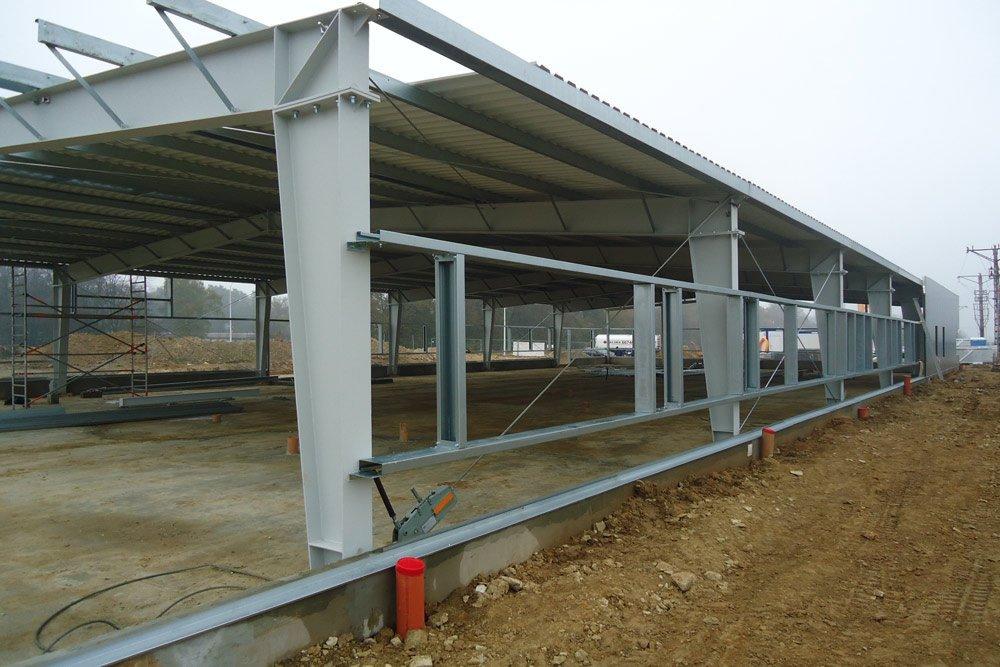 fragment konstrukcji - hala produkcyjna z częścią biurową, dla BioMaxima, Lublin, woj. lubelskie