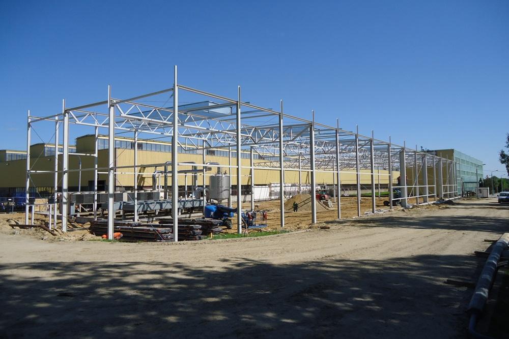 konstrukcja stalowa 1 - hala produkcyjno-magazynowa, dla Hutchinson, Łódź, woj. łódzkie