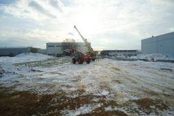 elementy konstrukcji stalowej - hala produkcyjna z zapleczem biurowym, dla Korona SA, Wieluń, woj. łódzkie