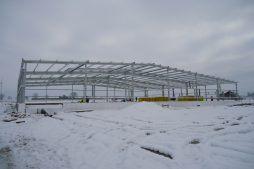 konstrukcja stalowa obiektu - hala produkcyjna, dla DS Group, Szadek, woj. łódzkie