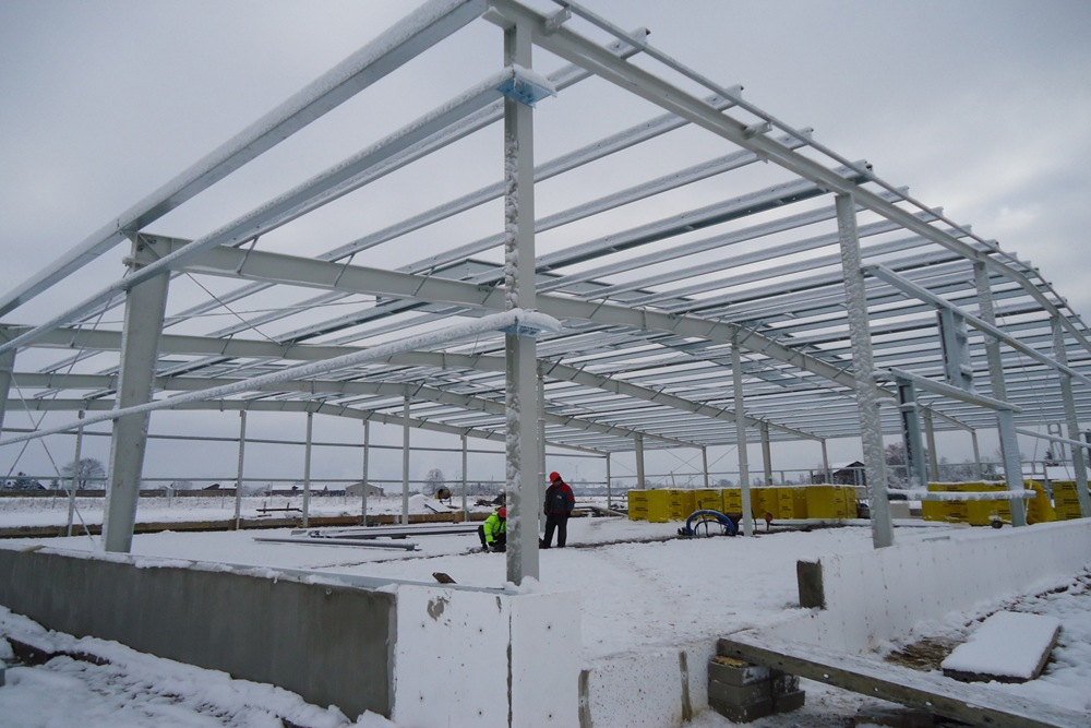 prace budowlane - hala produkcyjna, dla DS Group, Szadek, woj. łódzkie