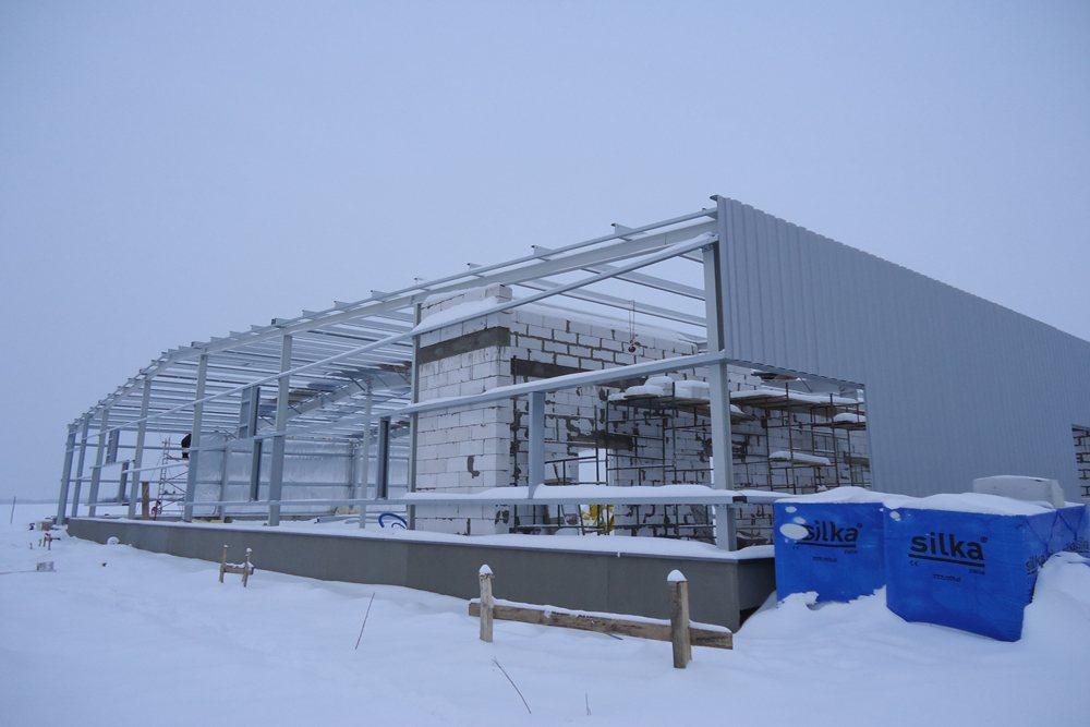obiekt w trakcie budowy 1 - hala produkcyjna, dla DS Group, Szadek, woj. łódzkie