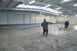 wylewka podłogowa 2 - hala produkcyjna, dla DS Group, Szadek, woj. łódzkie