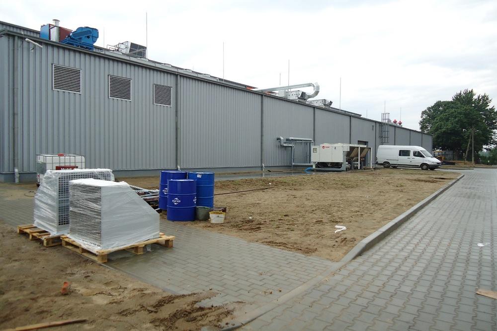 teren przed inwestycją 2 - hala produkcyjno-magazynowa z częścią biurową, dla Ergis, Wąbrzeźno, woj. kujawsko-pomorskie