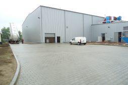teren przed inwestycją 3 - hala produkcyjno-magazynowa z częścią biurową, dla Ergis, Wąbrzeźno, woj. kujawsko-pomorskie