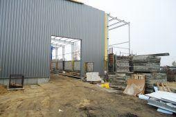 obudowa elewacji blachą 1 - hala produkcyjna, dla Poleko, Nowy Dwór Mazowiecki, woj. pomorskie