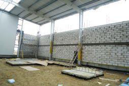murowanie ścian - hala produkcyjna, dla Poleko, Nowy Dwór Mazowiecki, woj. pomorskie