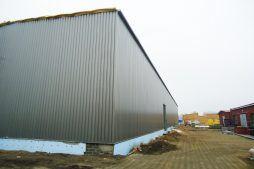 elewacje w trakcie budowy - hala produkcyjna, dla Poleko, Nowy Dwór Mazowiecki, woj. pomorskie