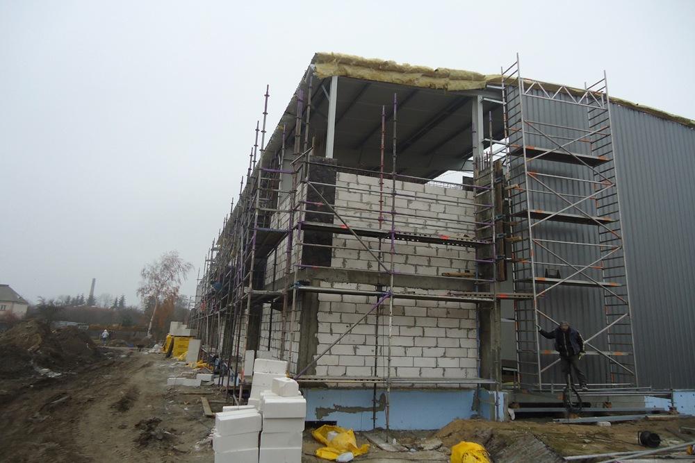 murowanie ścian 1 - hala produkcyjna, dla Poleko, Nowy Dwór Mazowiecki, woj. pomorskie
