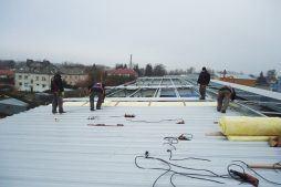 montaż pokrycia dachowego - hala produkcyjna, dla Poleko, Nowy Dwór Mazowiecki, woj. pomorskie