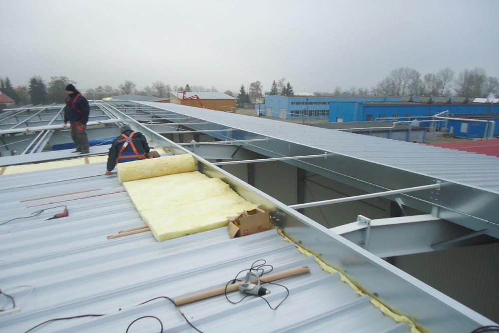 montaż pokrycia dachowego 1 - hala produkcyjna, dla Poleko, Nowy Dwór Mazowiecki, woj. pomorskie