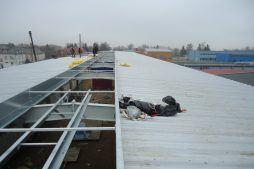 montaż pokrycia dachowego 2 - hala produkcyjna, dla Poleko, Nowy Dwór Mazowiecki, woj. pomorskie