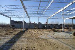 konstrukcja stalowa 1 - hala produkcyjna z budynkiem biurowym, dla Uniservice, Skarbimierz, woj. Opolskie