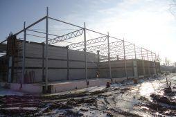 konstrukcja budynku - hala produkcyjna z częścią biurową, dla Arsanit, Konin, woj. wielkopolskie