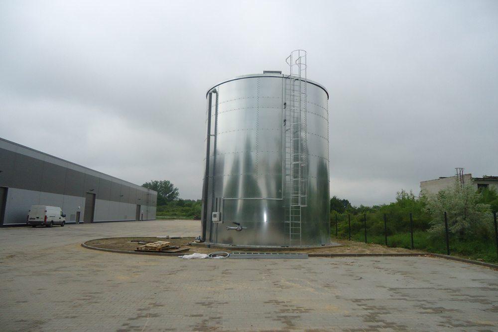 silos - hala produkcyjna z częścią biurową, dla Arsanit, Konin, woj. wielkopolskie