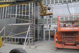 podkonstrukcja pod panele - hala magazynowa z budynkiem biurowym, dla Koesters & Meyer, Malanów