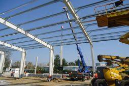 konstrukcja stalowa hali 1 - hala produkcyjna z częścią socjalną, dla Marva International, Poznań, woj. wielkopolskie