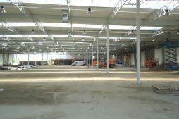 prace wykończeniowe we wnętrzu - hala produkcyjna z budynkiem biurowym, dla Uniservice, Skarbimierz