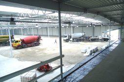 prace budowlane we wnętrzu - hala produkcyjna z budynkiem biurowym, dla Uniservice, Skarbimierz
