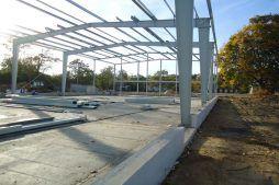 konstrukcja stalowa - hala produkcyjna z częścią socjalno-biurową, dla Danmar, Łódź, woj. łódzkie