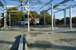 wznoszenie konstrukcji stalowej - hala produkcyjna z częścią socjalno-biurową, dla Danmar, Łódź, woj. łódzkie