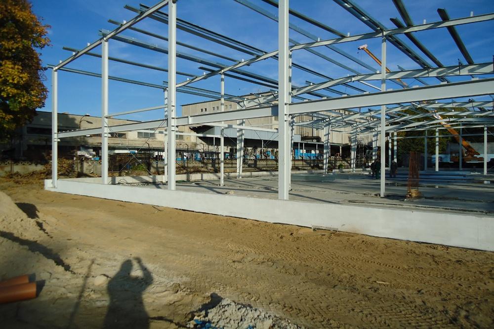 konstrukcja stalowa 1 - hala produkcyjna z częścią socjalno-biurową, dla Danmar, Łódź, woj. łódzkie