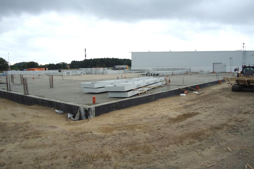 prace przygotowujące do budowy 1 - hala produkcyjna z częścią biurową, dla Leann Stańczyk, Słupsk, woj. pomorskie