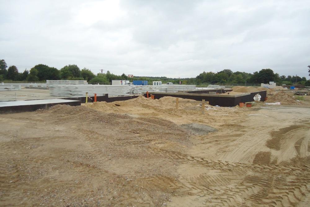 prace przygotowujące do budowy - hala produkcyjna z częścią biurową, dla Leann Stańczyk, Słupsk, woj. pomorskie