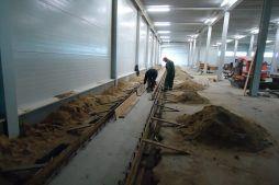 wykonywanie fundamentów pod urządzenia - sortownia owoców z częścią biurową, dla Europejskie Centrum Owocowe, Rębowola
