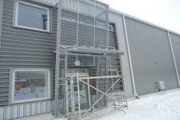 drzwi wejściowe - hala produkcyjna z częścią socjalno-biurową, dla Danmar, Łódź, woj. łódzkie