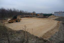 równanie terenu pod budowę - hala magazynowa, Firma Telmex, Pisz