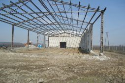 konstrukcja stalowa obiektu - sortownia i przechowalnia owoców z częścią biurową, dla Gaik, Witalówka