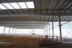 montaż elementów konstrukcji stalowej - hala produkcyjna, dla Wiefferink, Wykroty