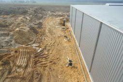 roboty ziemne widok z góry - hala produkcyjna, dla Wiefferink, Wykroty, woj. dolnośląskie