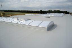świetliki dachowe - hala produkcyjna z częścią biurową, dla Dinopol, Ostró Wlkp., woj. wielkopolskie
