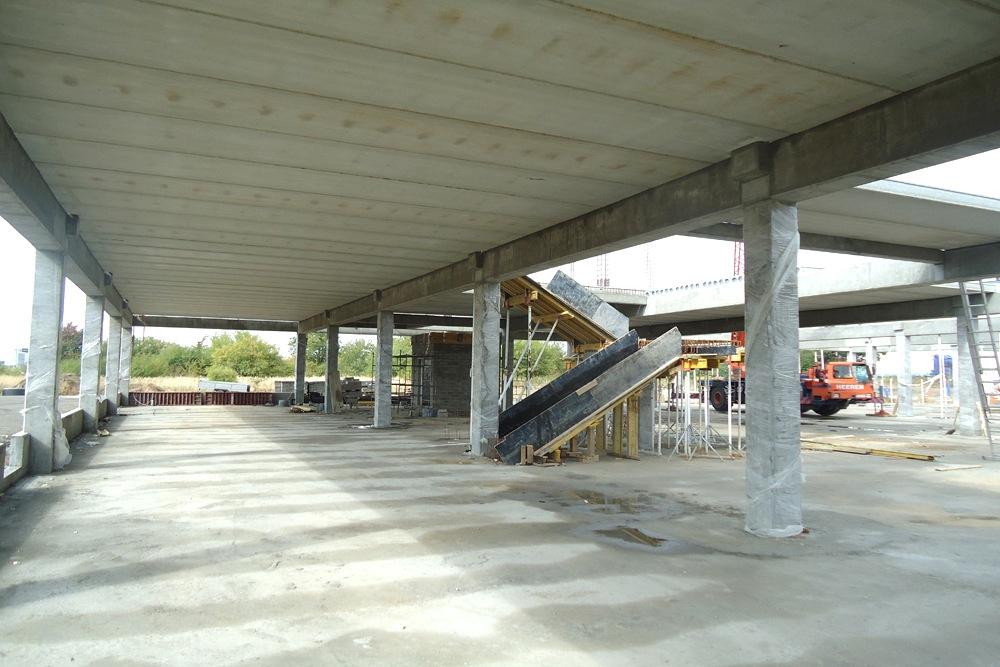 prefabrykowany strop żelbetowy - hala handlowa, dla Koopman International, Komorniki, woj. wielkopolskie
