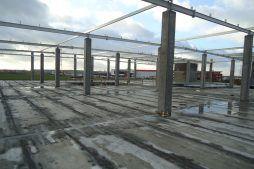 konstrukcja szkieletowa obiektu 1 - hala handlowa, dla Koopman International, Komorniki, woj. wielkopolskie