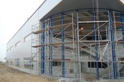 konstrukcja pod przeszklenie 1 - hala handlowa, dla Koopman International, Komorniki, woj. wielkopolskie