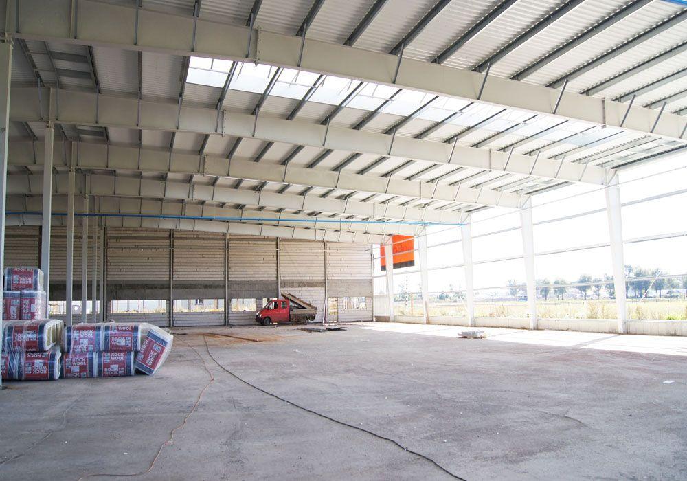 konstrukcja stalowa obiektu - hala produkcyjno-magazynowa, dla Addit, Węgrów, woj. mazowieckie