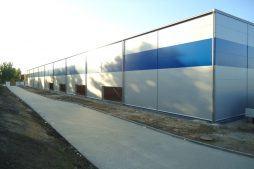 ściana tylna w trakcie budowy 2 - hala magazynowa z budynkiem biurowym, dla Hurtap SA, Głogów, woj. dolnośląskie