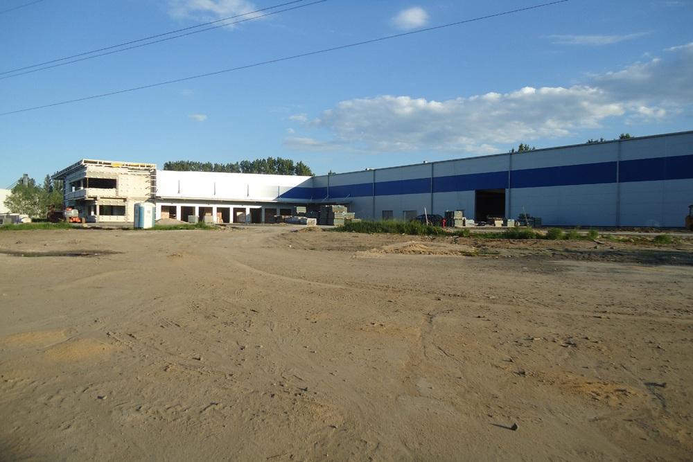 widok ogólny 3 - hala magazynowa z budynkiem biurowym, dla Hurtap SA, Głogów, woj. dolnośląskie