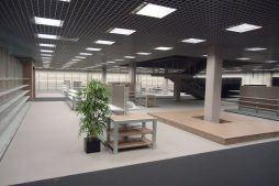 wykończenie pomieszczeń handlowych 1 - hala handlowa, dla Koopman International, Komorniki, woj. wielkopolskie