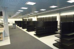wykończenie pomieszczeń handlowych 2 - hala handlowa, dla Koopman International, Komorniki, woj. wielkopolskie