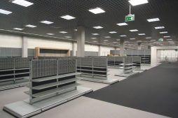 wykończenie pomieszczeń handlowych 4 - hala handlowa, dla Koopman International, Komorniki, woj. wielkopolskie